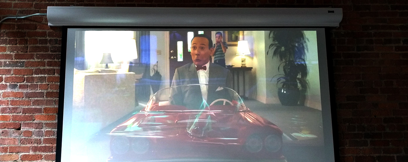 Pee-wee's Big Holiday movie screen