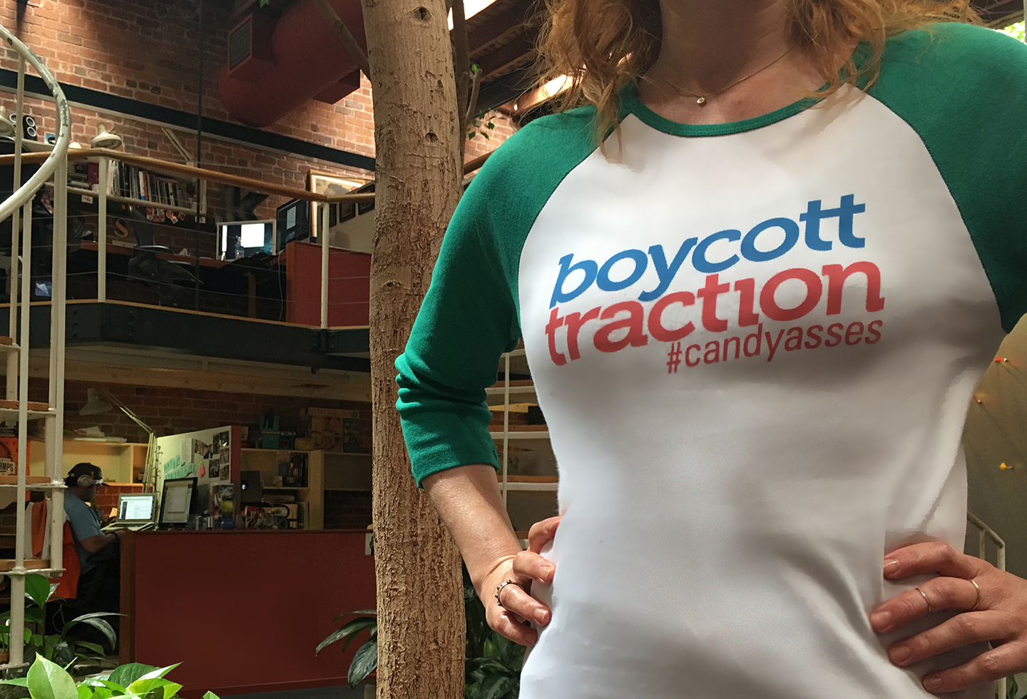 boycott traction shirt