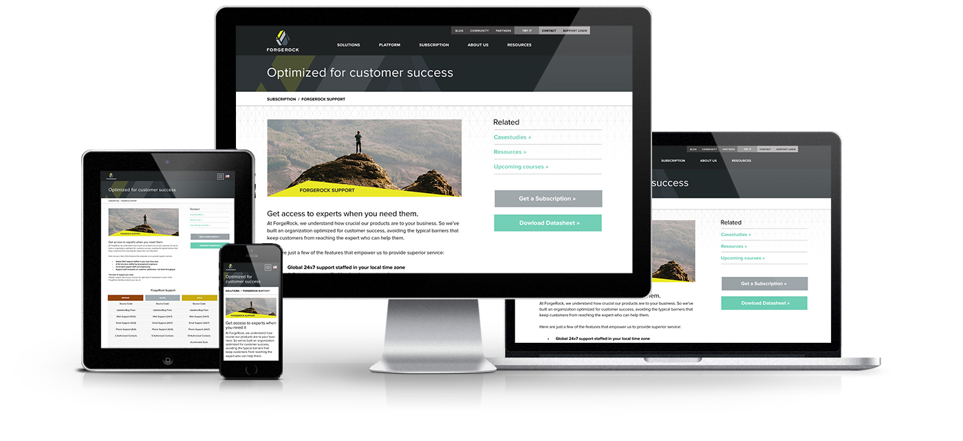 Forgerock responsive