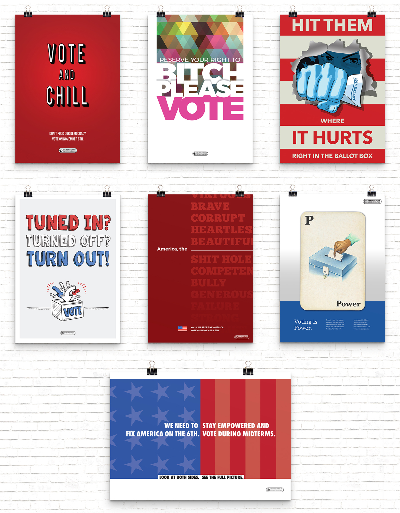 All voting posters