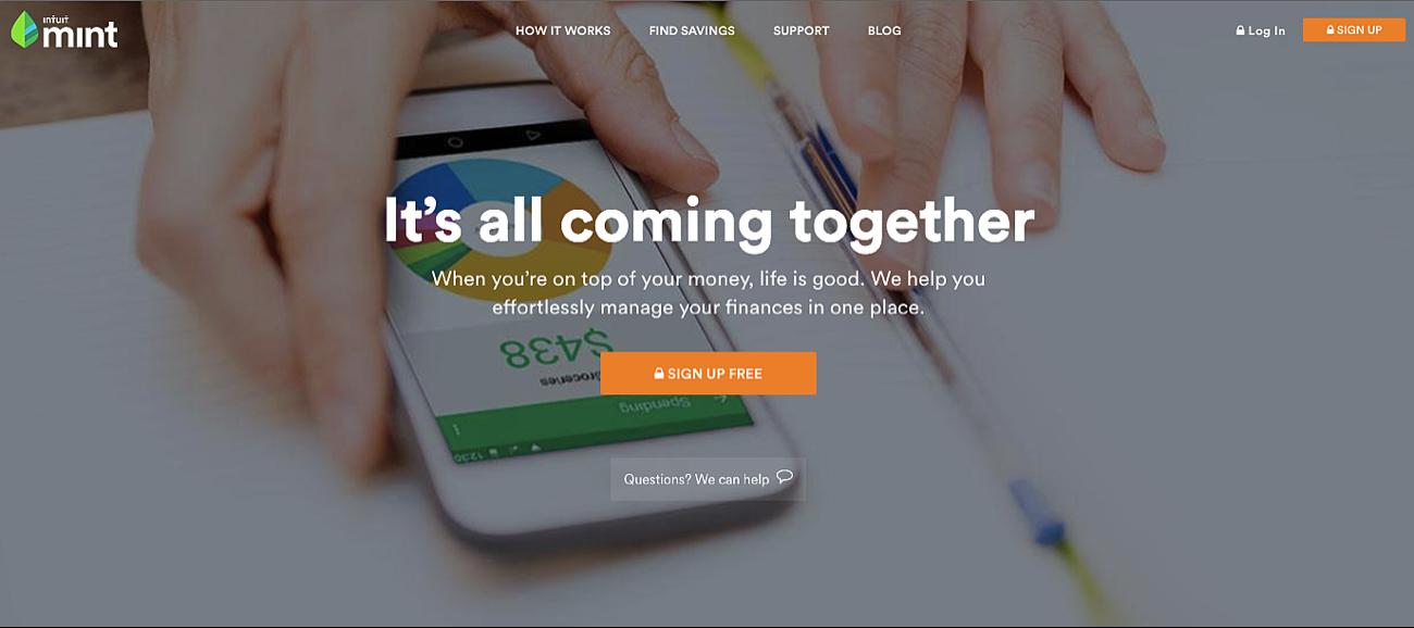 Mint Homepage