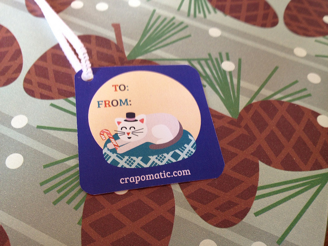 Cat gift tag