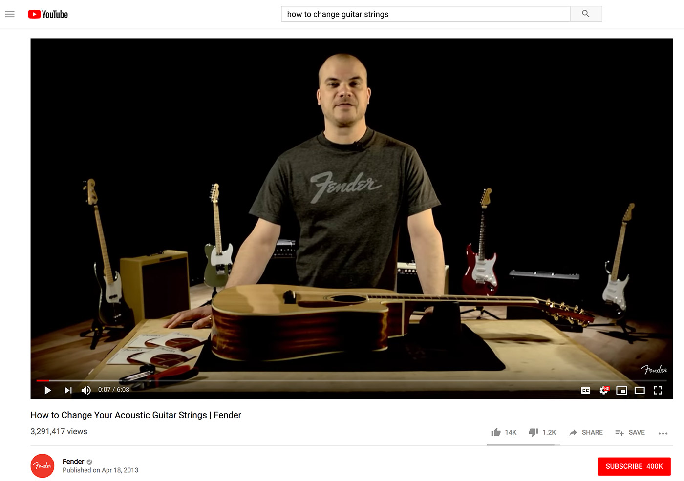 youtube guitar video