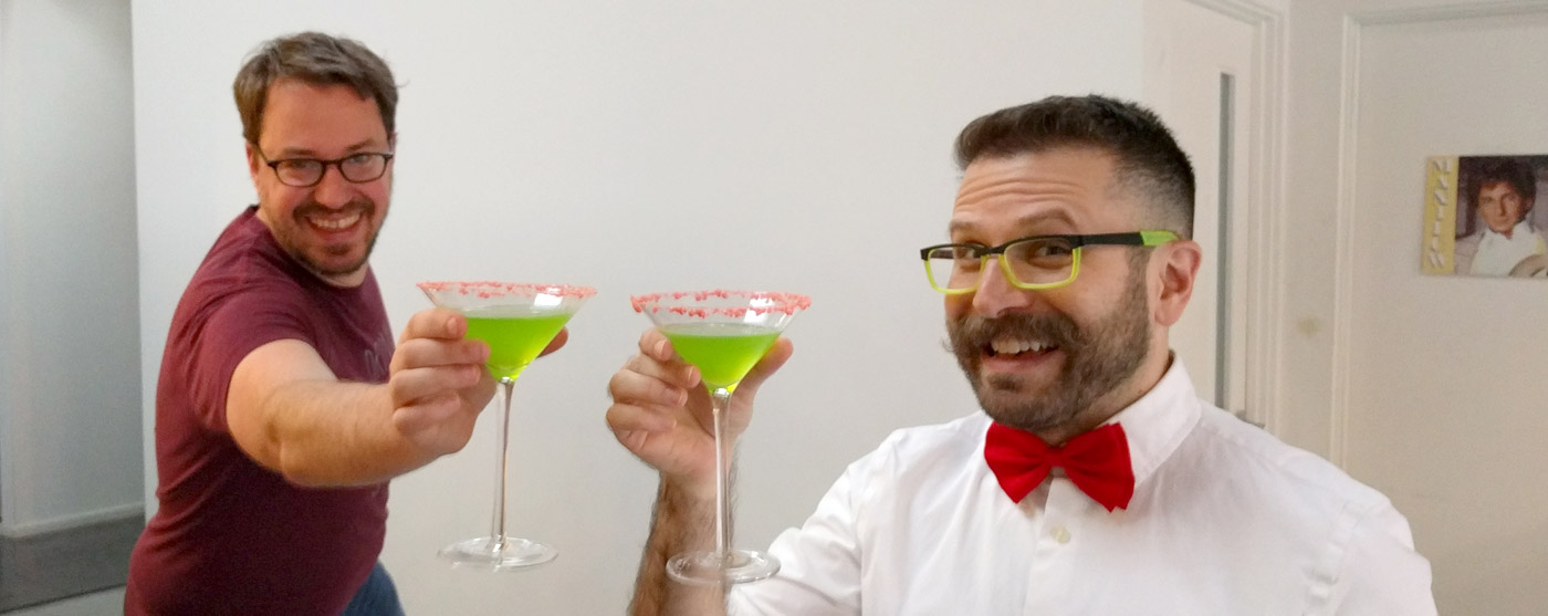 Pee-wee's Big Holiday toast with Tack and Matt