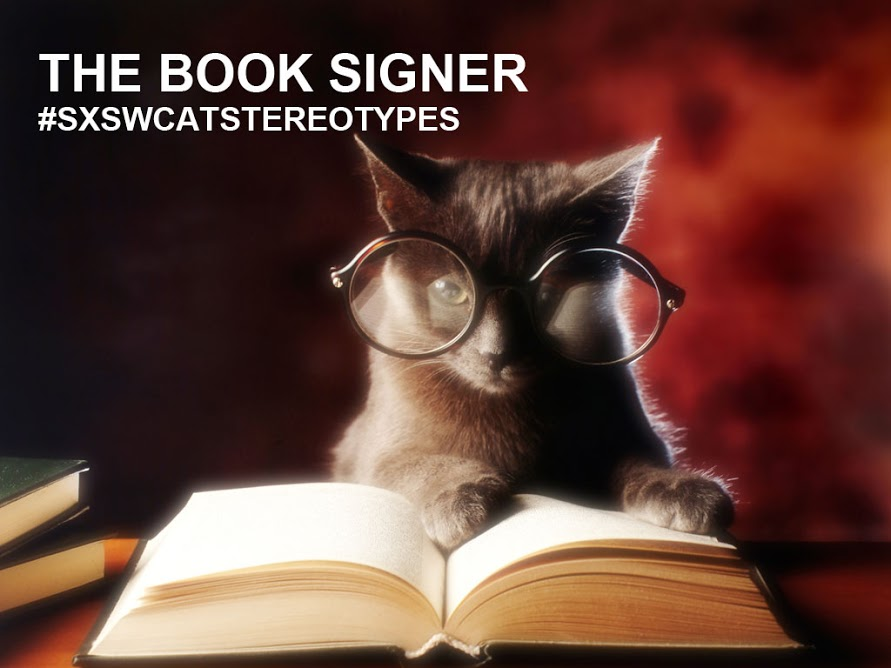 Book signer cat